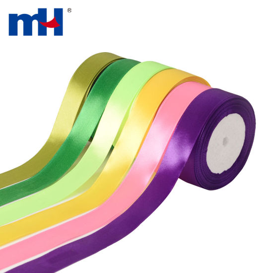 "Personalized 1"" 25mm Polyester Single Face Satin Ribbon for Gifts Wrapping and Party Decor Wholesale"