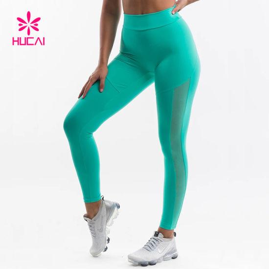 High Waisted Tights Women Mesh Sports Yoga Pants