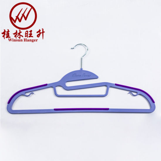 Wholesale Heavy Duty Quality Plastic Clothes Hanger with Tie Bar
