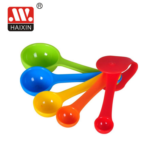 Haixing Multicolor 1.25ml/1.65ml/2.5ml/5ml/7.5ml/15ml 5PCS Plastic Measuring Spoon