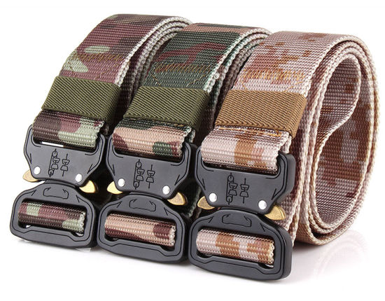Adjustable Heavy Duty Camouflage Webbing Belt with Quick Release Buckle