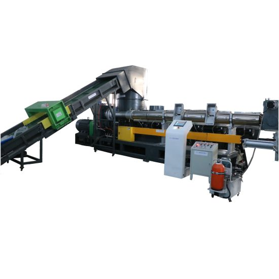 Waste PP PE Plastic Granulator with Compactor