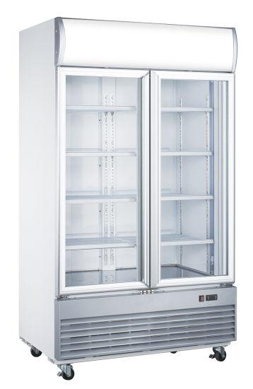 Double Glass Doors Beer Cooler Beverage Cooling Fridge (LD-1000F)