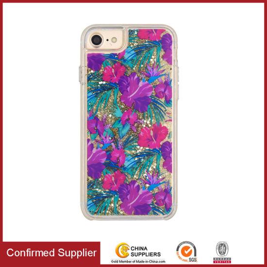 Printed Liquid Phone Case Glitter Liquid Quicksand Mobile Phone Case