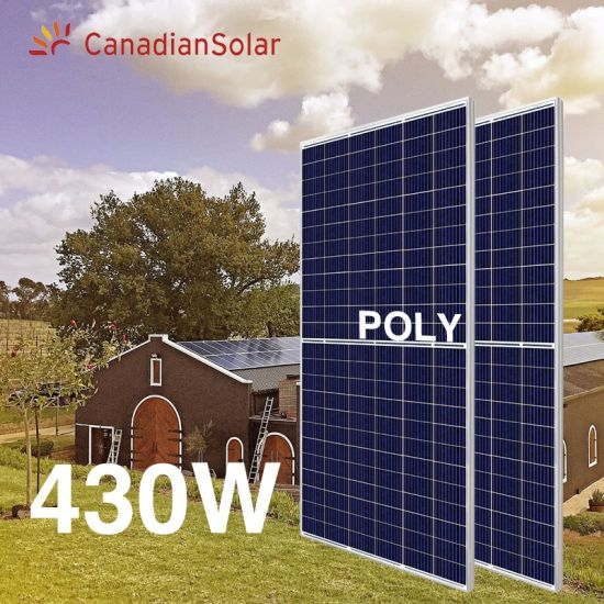 Original Canadian Solar Poly Half Cell 144cell Solar Panel 360W 400W 405W 410W 430W 500W Solar Panels