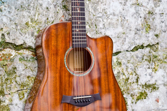 Custom China Factory Hand Made All Solid Manhogany Acoustic Electric Guitar