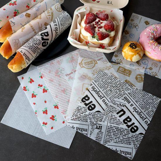 Eco Friendly Custom Printed Greaseproof Cake Sweet Sandwich Bread Paper Liner