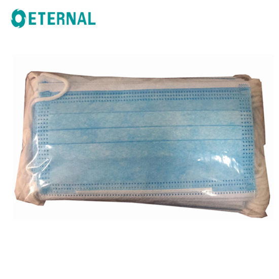 Blue 3 Ply Disposable Protective Mask