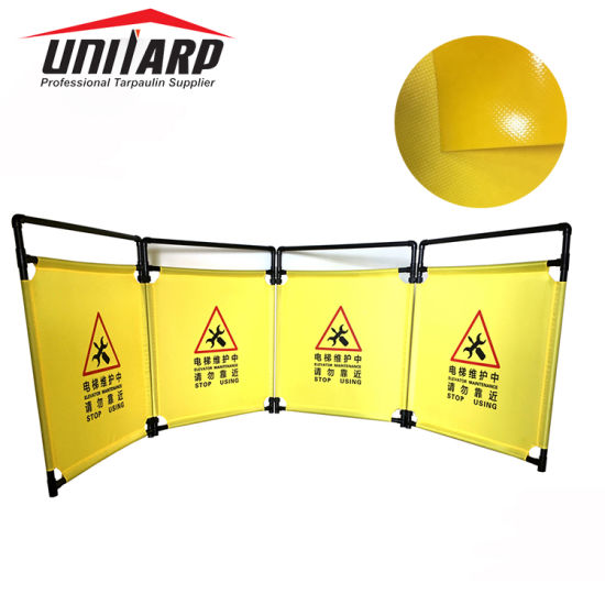 Foldable 1000d*1000d 550g PVC Tarpaulin for Traffic Warning Barrier pictures & photos