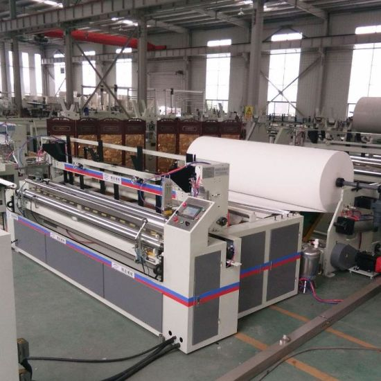 China Manufacturer High Quality Toilet Paper Rewinder Full Automatic Small Toilet Paper Roll Making Machine