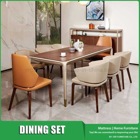 Simple Luxury Italian Style Dining Set Dining Table With 8 Chairs China Dining Set Dinette Set Made In China Com