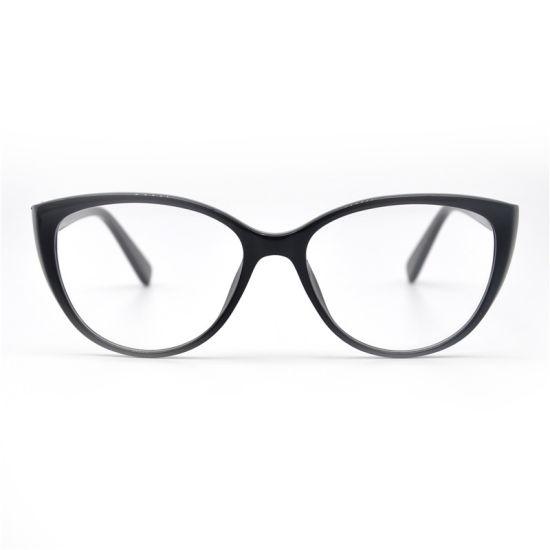 New Trend Designer Diamonds Cat Eye Spectacle Optical Acetate Frame Eyeglasses Glasses for Women Ladies
