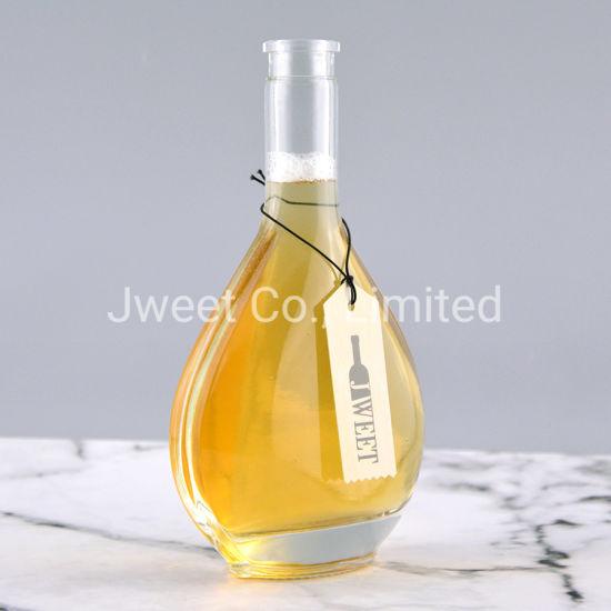 500ml Heart Shape Xo Glass Bottle for Vodka with Cork