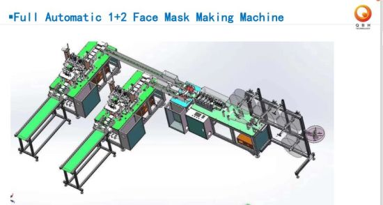 Fully Automatic N95 Masks Making Machine Face Mask Machine Face Shield Chinese Manufacturer Ce Certificate High Capacity Line