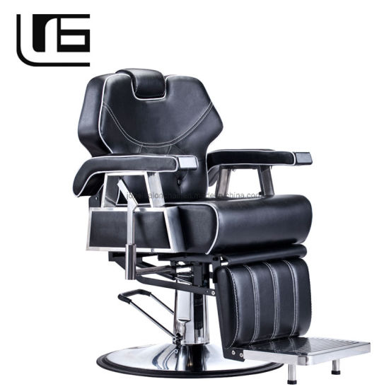 Global Suppliers Beauty Shop Black Barber and Salon Chairs Prices Luxury Barber Chairs Container Barbershop Furniture for Sale pictures & photos