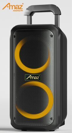 OEM Customized DJ Portable 2*8inch Wireless Professional Speaker with Bluetooth Trolley Wheels