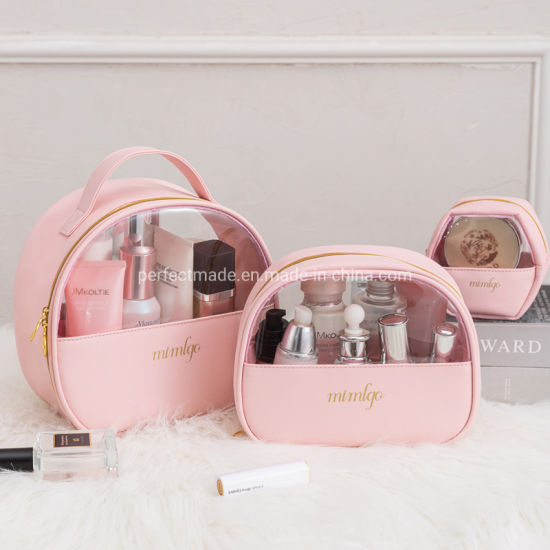 Custom New Travel Shiny Toiletry PU Cosmetic Makeup Bag