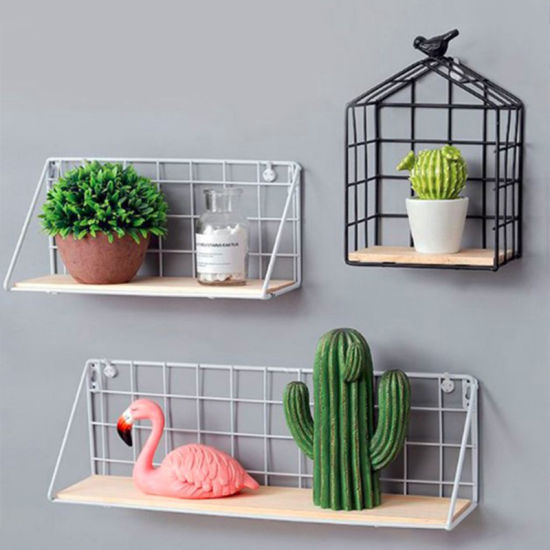 Wall Mounted Home Furniture Display Shelves Metal Wall Floating Shelf