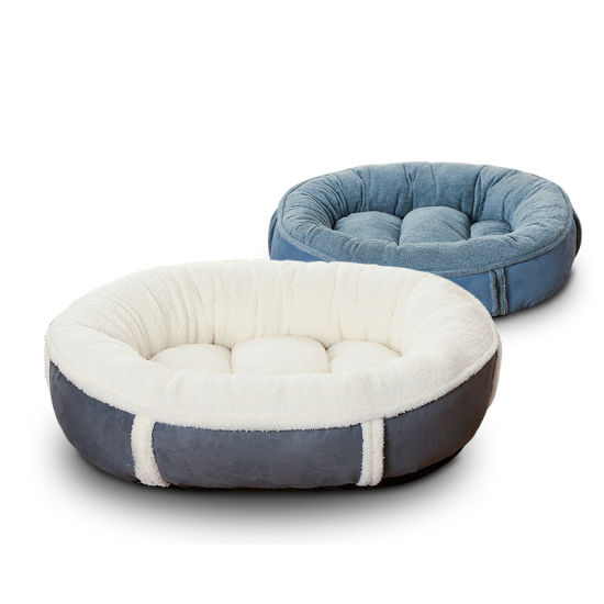 Soft Warm Anti-Slip Suede Cloth Round Pet Dog Cat Bed Pad Puppy Kitten Sleeping Bed pictures & photos