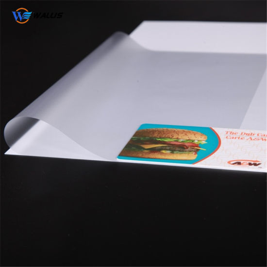 PVC Security ID Card Lamination Film, Polycarbonate PC Strong Coated Overlay Film for Hot Lamination