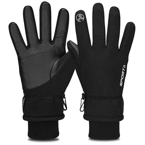 Windproof Winter Warm Palm Finger Reinforced Sport Racing Cycling Gloves