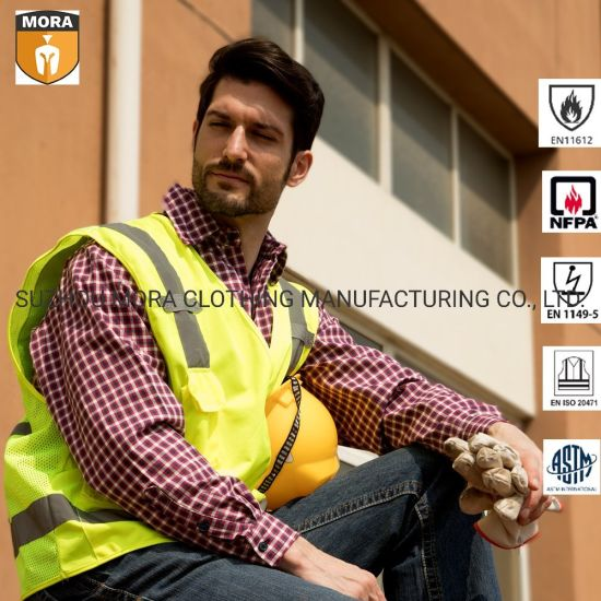 Fr Clothing High Visibility Safety Vest with Reflective Tape pictures & photos