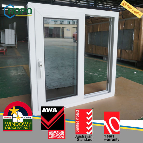 China Pvc Vinyl Dark Grey Tinted Impact Glass Sliding Windows