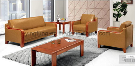 Office Sofa with Wooden Armrest (SF-6090) pictures & photos
