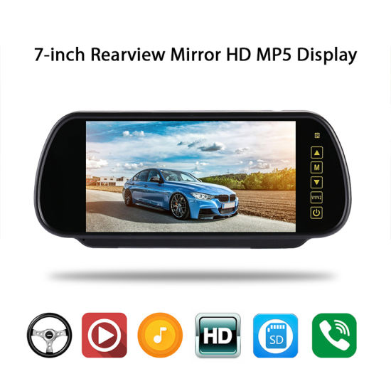 "Car 3.5/"" Inch Rear View TFT LCD Monitor Dual Video Camera RCA Input For Parking"