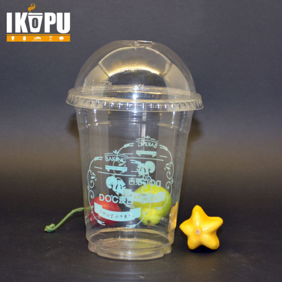 Disposable Cold Drinking Plastic Cup with Lid Professional Supplier pictures & photos