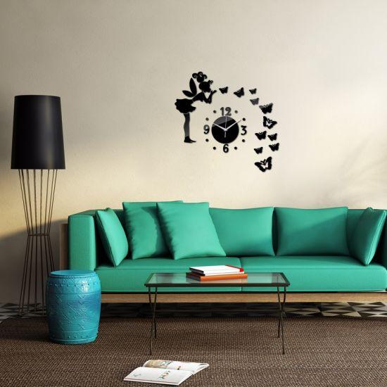 Creative DIY Acrylic Mirror Wall Clock Decals Clocks Home Decoration