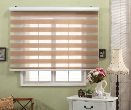 China Fashionable Zebra Blinds Roller Shade Day And Night Fabric