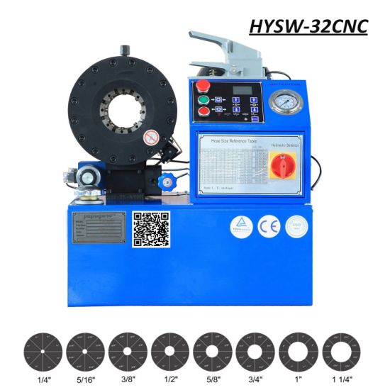 Ce Certification Hysw-32CNC Hydraulic Hose Swager / Swaging Machine