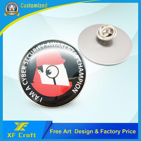 Professional Custom Silk Screen Lapel Pin /Cmyk Logo Pin Badge for Souvenir (XF-BG26)