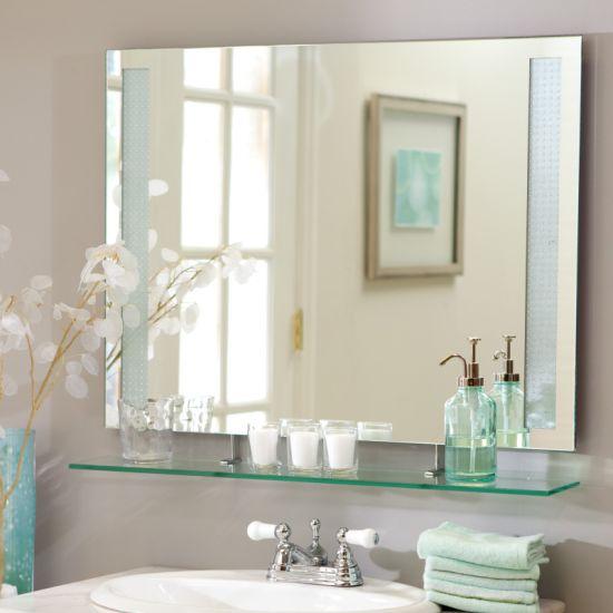 6mm Bathroom Wall Mounted Plain Silver
