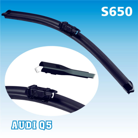 S650 4s Shop Q5 Push Button 16mm Arm Exclusive Use Auto Parts Cleaner Quiet Smooth Passenger Driver Dedicated Special Wiper Blade pictures & photos