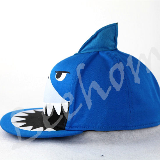 Snapback Flat Brim Fiftted Kids Cap with Shark pictures & photos
