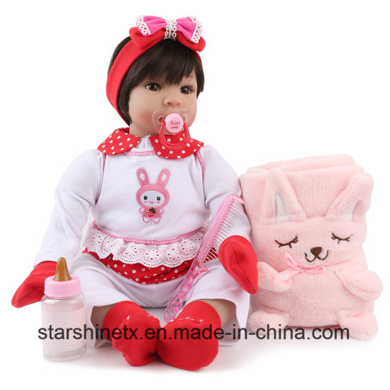Dolls & Stuffed Toys Nice 58cm Pretty Girl Toddler Bebes Reborn Vinyl Silicone Reborn Baby Dolls With Puppy Plush Children Gift Toy Dolls Toys & Hobbies