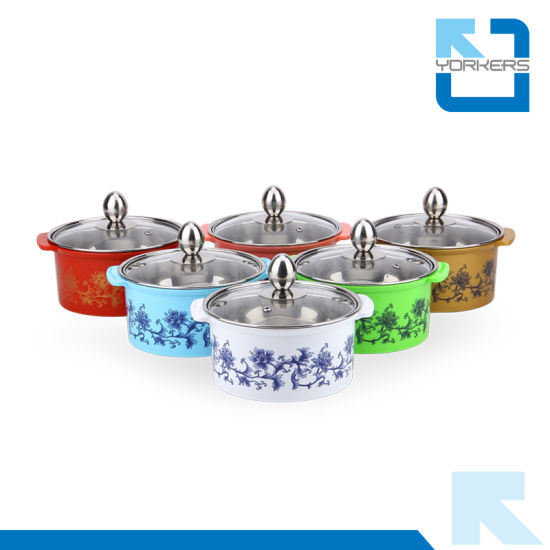 Colourful Stainless Steel Hotpot Casserole Set Chinese Mini Hot Pot