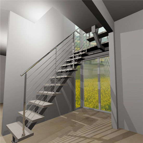 House Projects Indoor Metal Fire Escape Straight Staircase