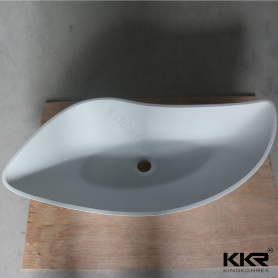 Solid Surface Bathroom Sink Hand Wash Basin (180413) pictures & photos