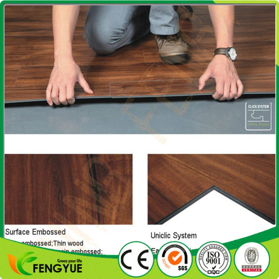 China Best Price Classic Wood Colors Commercial Use Pvc Vinyl