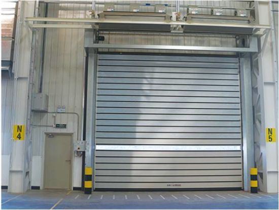 China Radar Sensor High Speed Fire Rated Hard Fast Garage Roller Shutter Door China Fire Rated