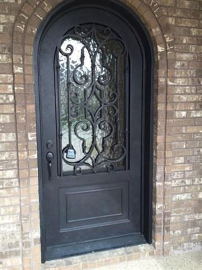 China Safety Front Main Entrance Single Iron Door For Home China