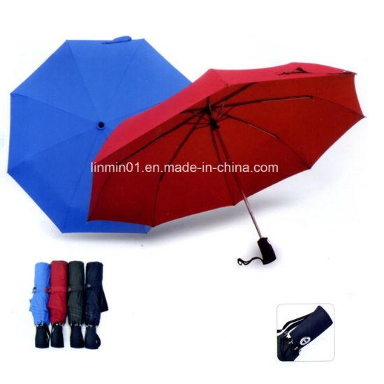 Hot Sale Auto Open & Close Rubber Handle Folding Umbrella