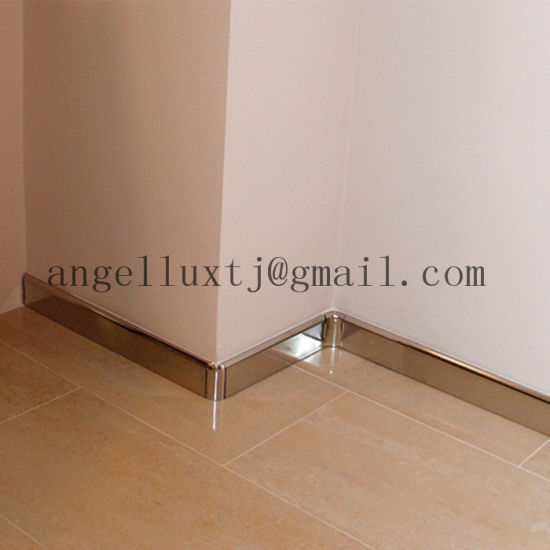 Indoor Decoration Metal Skirting Board Floor Wall Protection Materials Tile Trim Pictures Photos