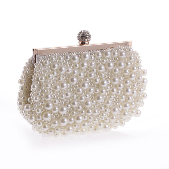 7c1f0c82159 Newest Fashion Women Handbag Pearl Bag Designer Clutch Bag pictures & photos