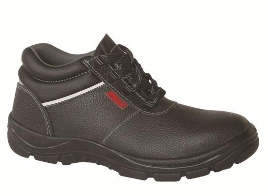 Ufa031 Black Workmens Steel Toe Safety Shoes Mens