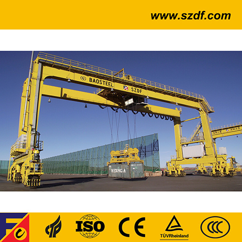 Rtg Container Gantry Cranes /Container Stacking Rubber Tyre Cranes Rtg Crane pictures & photos