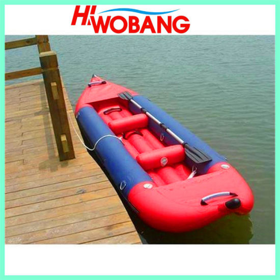 PVC Rubber Kayak, China Inflatable Fishing Boat
